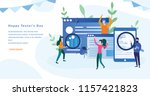 happy tester's day  computer... | Shutterstock .eps vector #1157421823