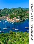 portofino  italy   colorful... | Shutterstock . vector #1157428966
