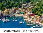 portofino  italy   colorful... | Shutterstock . vector #1157428993
