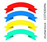 flat ribbons banners. ribbons... | Shutterstock . vector #1157430496