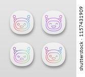 robot emojis app icons set....