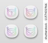robot emojis app icons set.... | Shutterstock .eps vector #1157431966