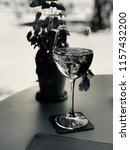 one glass of rose wine | Shutterstock . vector #1157432200