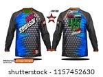 long sleeve motocross jerseys t ... | Shutterstock .eps vector #1157452630
