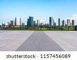 city skyline with empty aquare | Shutterstock . vector #1157456089