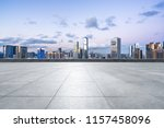 panoramic city skyline with... | Shutterstock . vector #1157458096