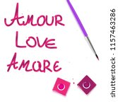 amour love amare slogan... | Shutterstock .eps vector #1157463286