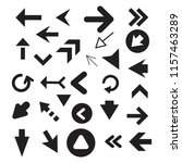 arrow icon set isolated on... | Shutterstock .eps vector #1157463289