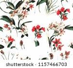 flower summer pattern | Shutterstock .eps vector #1157466703