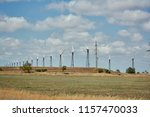 wind power stations in the... | Shutterstock . vector #1157470033