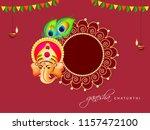 happy ganesh chaturthi design ...   Shutterstock .eps vector #1157472100