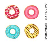 vector sweet colorful glazed... | Shutterstock .eps vector #1157472499