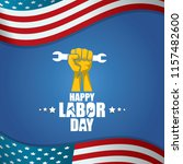 labor day usa vector label or... | Shutterstock .eps vector #1157482600