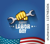 labor day usa vector label or... | Shutterstock .eps vector #1157482606