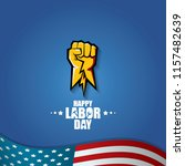 labor day usa vector label or... | Shutterstock .eps vector #1157482639