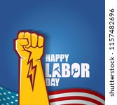 labor day usa vector label or... | Shutterstock .eps vector #1157482696