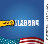 labor day usa vector label or... | Shutterstock .eps vector #1157482699