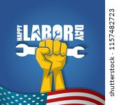 labor day usa vector label or... | Shutterstock .eps vector #1157482723