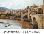 view on an ancient old medieval ... | Shutterstock . vector #1157484523