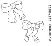 bow from ribbon  contour ... | Shutterstock .eps vector #115748533