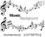 music notes abstract. music... | Shutterstock .eps vector #1157487916