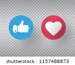 thumbs up and heart icon on... | Shutterstock .eps vector #1157488873