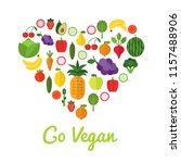 healthy food concept. go vegan... | Shutterstock .eps vector #1157488906
