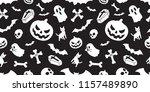 halloween seamless pattern... | Shutterstock .eps vector #1157489890