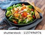 salad with fusilli pasta... | Shutterstock . vector #1157496976