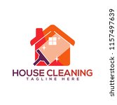 creative house cleaning logo | Shutterstock .eps vector #1157497639