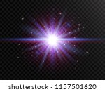 futuristic light on transparent ... | Shutterstock .eps vector #1157501620