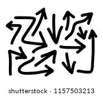 hand drawn arrows set on a... | Shutterstock .eps vector #1157503213