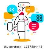 vector business illustration of ... | Shutterstock .eps vector #1157504443