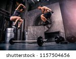 athletes training in a gym  ... | Shutterstock . vector #1157504656