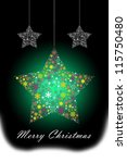 colorful glowing star hanging ... | Shutterstock . vector #115750480