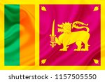 sri lanka fabric flag waving 3d ... | Shutterstock . vector #1157505550