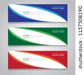 vector abstract design banner... | Shutterstock .eps vector #1157508190