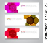vector abstract design banner... | Shutterstock .eps vector #1157508223