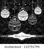 christmas balls | Shutterstock .eps vector #115751794