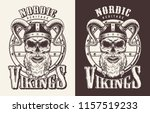 t shirt print with viking head... | Shutterstock .eps vector #1157519233