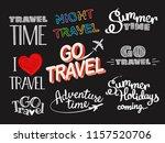 summer time logo set. vector... | Shutterstock .eps vector #1157520706