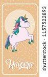 cute unicorn cartoon | Shutterstock .eps vector #1157522893