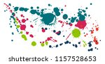 paint stains grunge background... | Shutterstock .eps vector #1157528653
