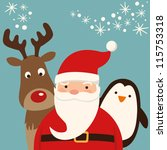 santa claus and friends | Shutterstock .eps vector #115753318
