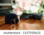 wedding rings with bridegroom...   Shutterstock . vector #1157535613