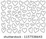 hand drawn hearts set | Shutterstock .eps vector #1157538643
