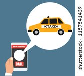 taxi online transport on... | Shutterstock .eps vector #1157541439