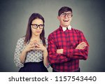 young couple of different... | Shutterstock . vector #1157543440