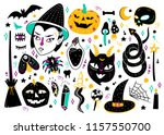 magic halloween objects. hand... | Shutterstock .eps vector #1157550700