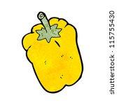 yellow pepper cartoon | Shutterstock .eps vector #115755430